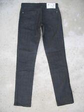 Chip & Pepper Jeans Stella Mid Rise Skinny Leg w Zipper Hems Black Sz 27
