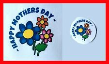 24 40mm RF05 Happy Mothers Day Flowers Sweet Cones Labels Stickers