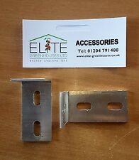 Elite Greenhouse Long Angle Bracket x 6 in Silver - use for anchoring or wires