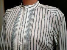 Women's Polyester Striped Long Sleeve Sleeve Career Tops & Blouses