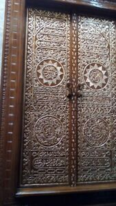 Hand Carved Teak Wood Arabic Calligraphy Kaaba Door - Pre Order