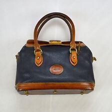 DOONEY & BOURKE Vintage Distressed Blue Brown AWL Leather Doctor Hand Bag Purse
