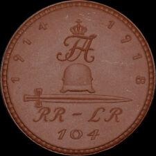 """1. WELTKRIEG: Medaille. INFANTERIE-REGIMENT """"KRONPRINZ"""" 104, CHEMNITZ / SACHSEN."""
