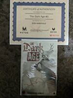 THE DARK AGE #1 WEBSTORE VARIANT Limited to 500 copies RED 5 signed with COA -NM