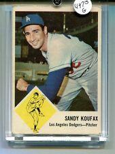 SANDY KOUFAX 1963 FLEER CARD #42 DODGERS  VG EX