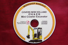 New Holland E16 Mini Crawler Excavateur service d'atelier de réparation Manuel complet