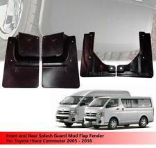 Front and Rear Splash Guard Mud Flap Fender For Toyota Hiace Commuter 2005-2018