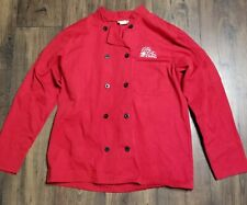Chef Wear Women'S M Long Sleeve Jacket Chef Coat Red Rose Inn Plant City Fl