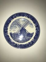 """Vintage Old English Staffordshire Ware 7 3/4"""" Plate The Old East Kill, Cape Cod"""