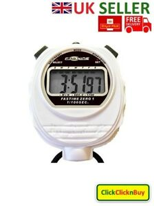 Fastime 01 Pro Digital Handheld Sports Stopwatch Watch Timer Alarm Counter White