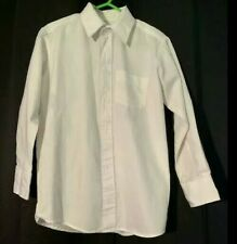 George Xs (4/5) Boys Dress Shirt White Long Sleeve