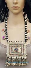 Handmade Thread Bead Gypsy Necklace Banjara Boho Vintage Tribal Kuchi Afghan