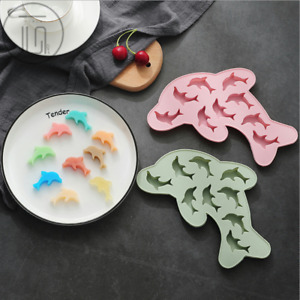 Dolphin Silicone Gummy Chocolate Baking Mold Ice Cube Tray Candy Jelly DIY Mould