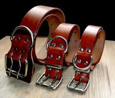 Best Genuine Leather Pet Dog Collars Chihuahua Bulldog Doberman XS S M L XL XXL