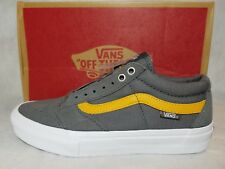 New Vans TNT SG Pro Suede Leather Pewter Sunflower Yellow Grey Shoe Size Men 6.5