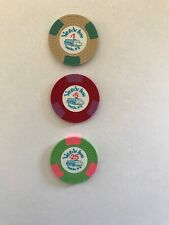 $1 $5 $25 Verdi Inn Verdi Nevada Casino Chips Poker Uncirculated Large Key Mold