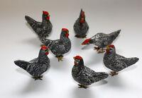 sehr schöne Masse Hühner, Geflügel vor 1945 Erzgebirge