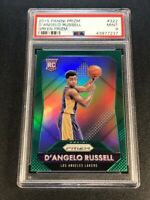 D'ANGELO RUSSELL 2015 PANINI PRIZM #322 GREEN REFRACTOR ROOKIE RC PSA 9