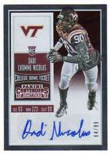 2016 Panini Contenders Draft College Bowl Ticket AUTO /99 Dadi Lhomme Nicolas