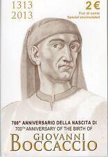 2 Euro commémorative de Italie 2013 Brillant Universel (BU) - Giovanni Boccaccio
