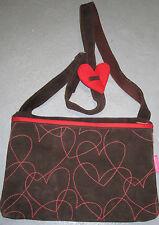 Agatha Ruiz De La Prada Hearts Suede Med Handbag