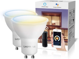 Lepro Alexa WiFi Smart Bulb GU10, Warm to Cool White, Dimmable LED Spot Lights,
