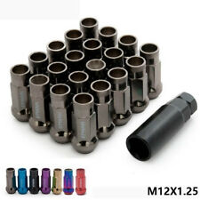 MT V48 Steel Acorn Rim Extended Open End Wheel Racing Lug Nuts M12X1.25 Titanium