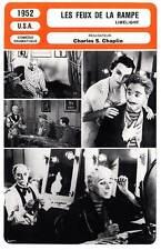FICHE CINEMA : LES FEUX DE LA RAMPE  Charles Chaplin,Claire Bloom 1952 Limelight