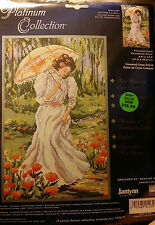 """""""Out for a Stroll"""" Cross Stitch Kit by Janlynn  #023-0346 NIP FREE SHIPPING"""