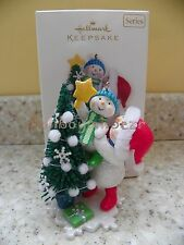 Hallmark 2008 Trimming the Tree Making Memories Snowman Srs Christmas Ornament