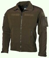 MFH OLIVE TACTICAL COMBAT FLEECE ZIP UP MILITARY ARMY STYLE JACKET ZIP POCKETS