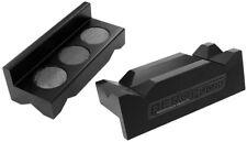 Aeroflow Billet Vice Soft Jaws Alloy Black Magnetic Back -6 To -10 AF98-2001