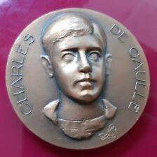 G07102 médaille naissance du général Charles de Gaulle militaria ww2 SPL +