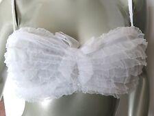 Nwt Victorias Secret Ruffle Lace Unlined Multiway U Wire Bridal Bra 34B