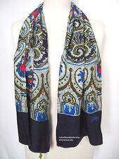 Oilily Schal NEU O-Rose Nachtblau Ornament Muster für Jacke Mantel Damen scarf