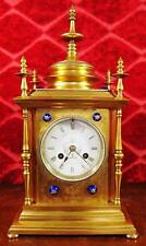 Brass Antique Mantel & Carriage Clocks with Keys, Winders
