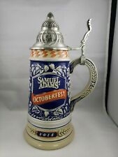 New 2016 Samuel Adams Octoberfest Collectible Limited Edition Lidded Stein #0772