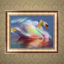 5D White Swan DIY Diamond Painting Rhinestone Cross Stitch Home Decor