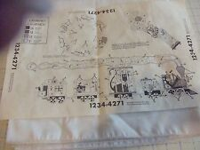 """TRI CHEM BIRTHDAYCIRCUS TABLE CLOTH 59X59"""" TO PAINT OR EMBROIDERY"""