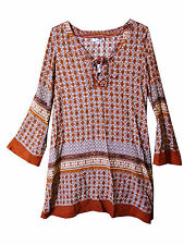 Polyester V-Neck Long Sleeve Shirt Dresses for Women