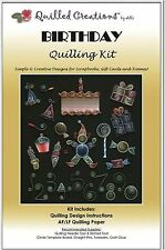 Quilled Creations Paper Quilling Kit  BIRTHDAY Presents, Cake, Numbers ~ 408