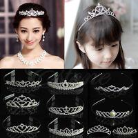 Wedding Bridal Comb Tiara Rhinestone Crown Crystal Pageant Prom Hair Headband