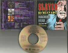 TOUR PROMO CD SLAYER w/ BIOHAZARD & MACHINE HEAD Live & Unreleased TRX 1995 USA