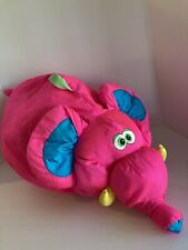 "New Listing1994 Fisher Price Big Things Pink & Blue Elephant Puffalump 28"" Plush Vintage"