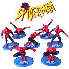 7pcs Spiderman Action Figure Display Figurines Set Cake Topper Decor Toy Gift