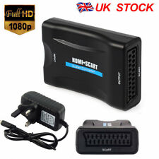 1080P HDMI To SCART Composite Video Converter Audio UK Plug Adapter for DVD SKY