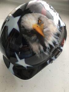 Site Safty Helmet USA Eagle Wrap New