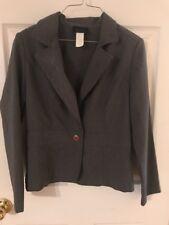 Ladies Size Medium Grey Blazer One Button Jacket