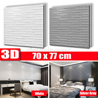 5PCS 3D Waterproof Tile Brick Wall Sticker Self-adhesive Foam Panel 70x77cm