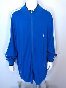 POLO RALPH LAUREN PERFORMANCE 4XLT TALL Full Zip Jacket BLUE White 4X BIG & TALL
